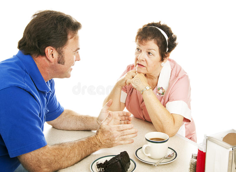 Chat at the Diner royalty free stock images