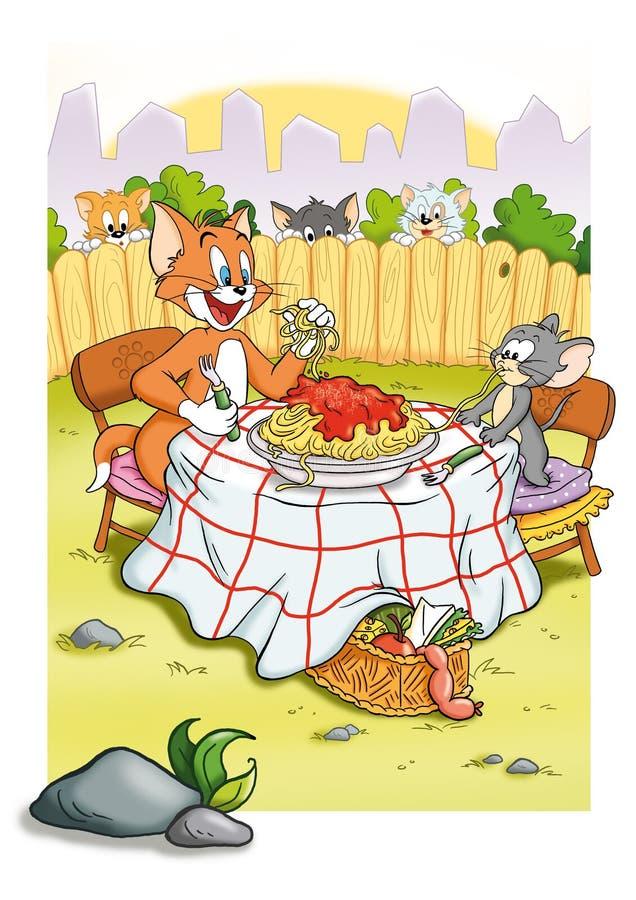 Chat et souris illustration stock