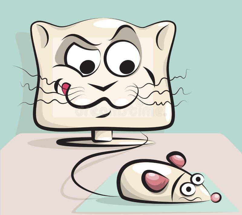 Chat et souris illustration libre de droits