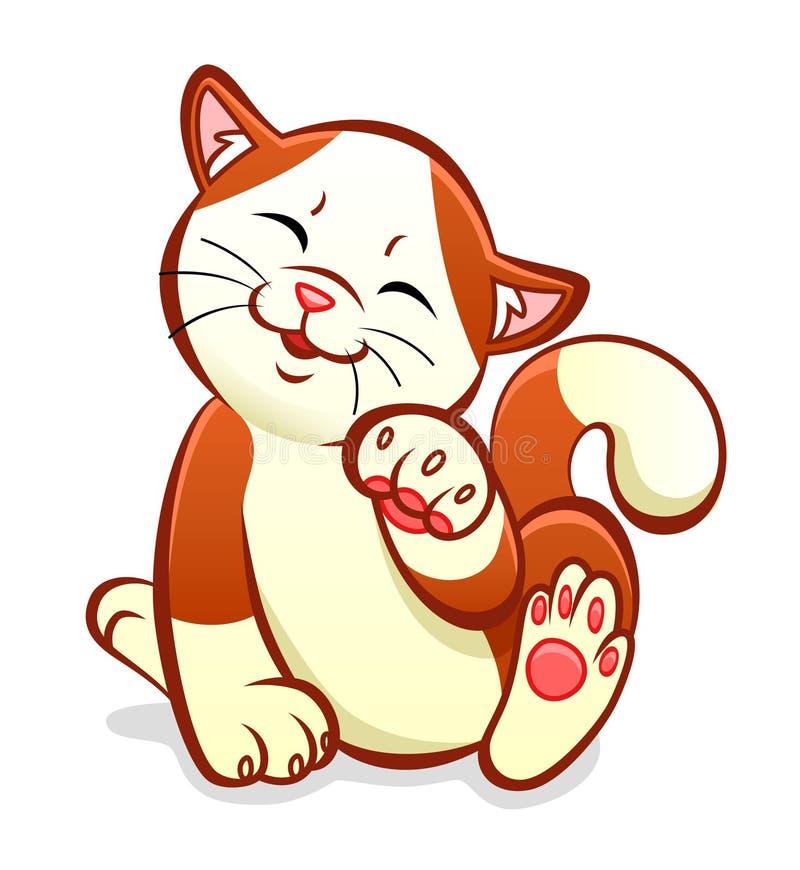 chat gai illustration libre de droits