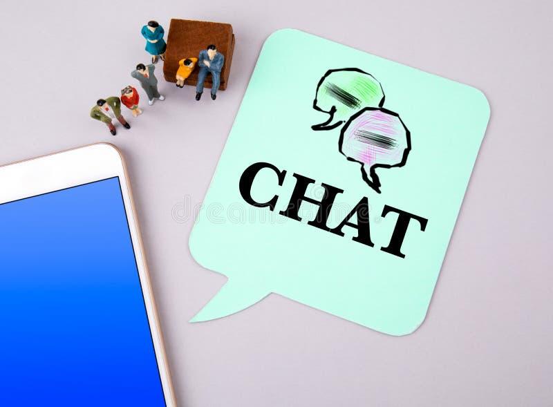 Chat-, Geschäfts- und Social Media-Konzept lizenzfreie stockfotos