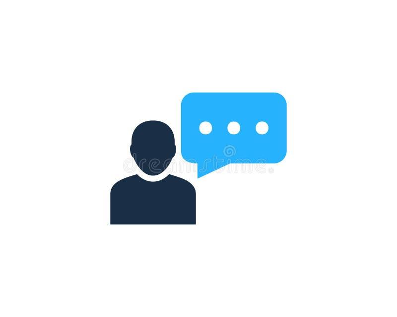 Chat-Gesprächs-Referenz-Ikone Logo Design Element lizenzfreie abbildung