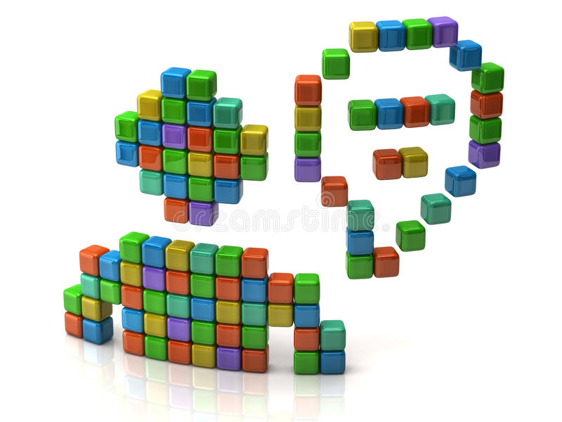Download Chat icon stock illustration. Image of element, blank - 22470333