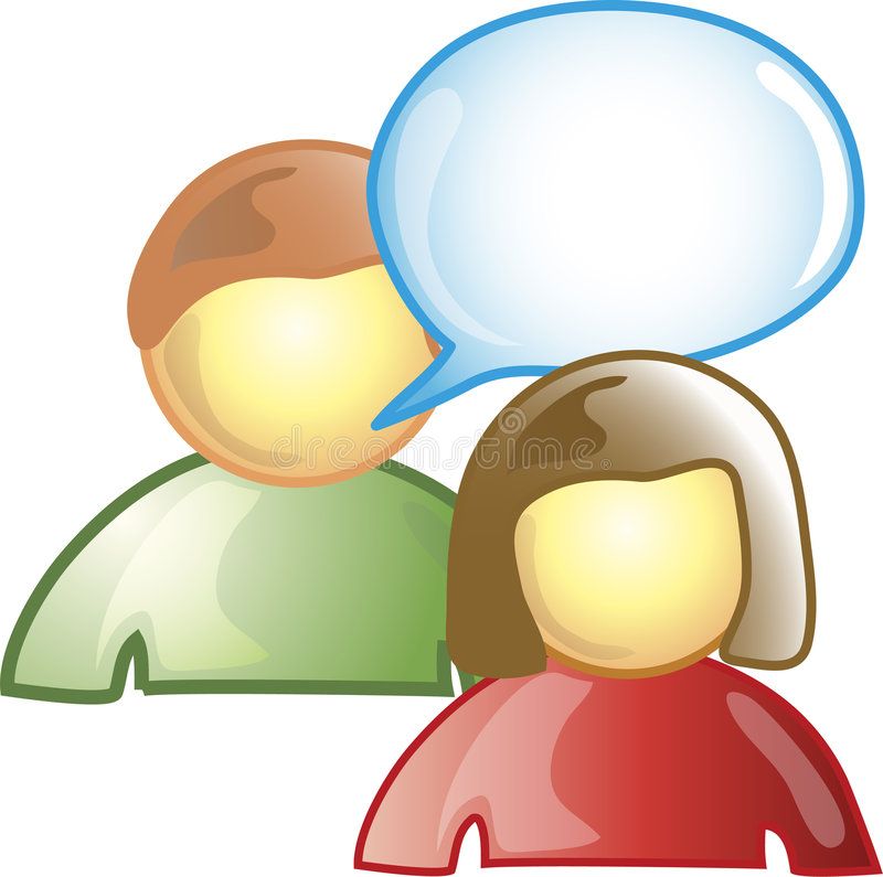 Download Chat Icon stock illustration. Illustration of talk, chat - 6655569