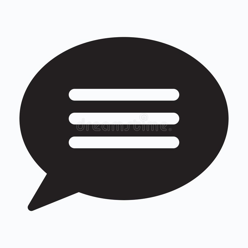 Chat icon, sms icon, speech bubble icon royalty free illustration