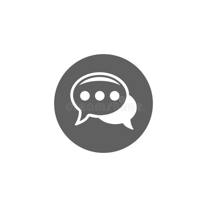 Chat Icon in trendy flat style isolated on grey background. Speech bubble symbol for your web site design, logo, app, UI. Vector vector illustration