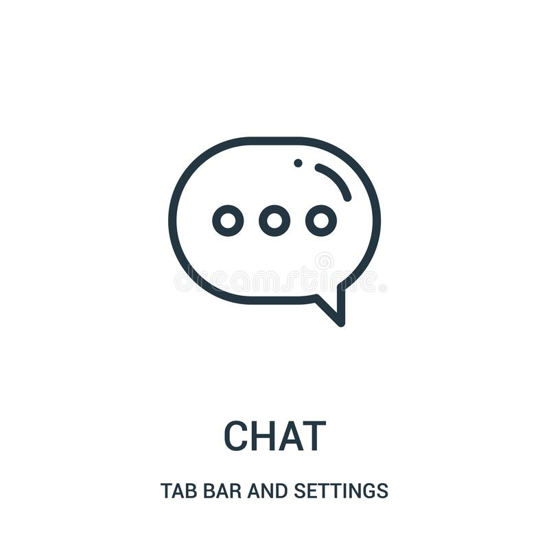 chat icon vector from tab bar and settings collection. Thin line chat outline icon vector illustration vector illustration