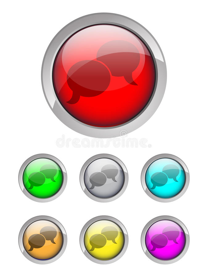 Download Chat icons stock vector. Image of buttons, button, cartooning - 9807582