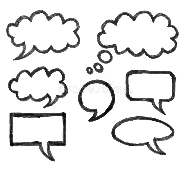 Chat icons drawing. On white background vector illustration