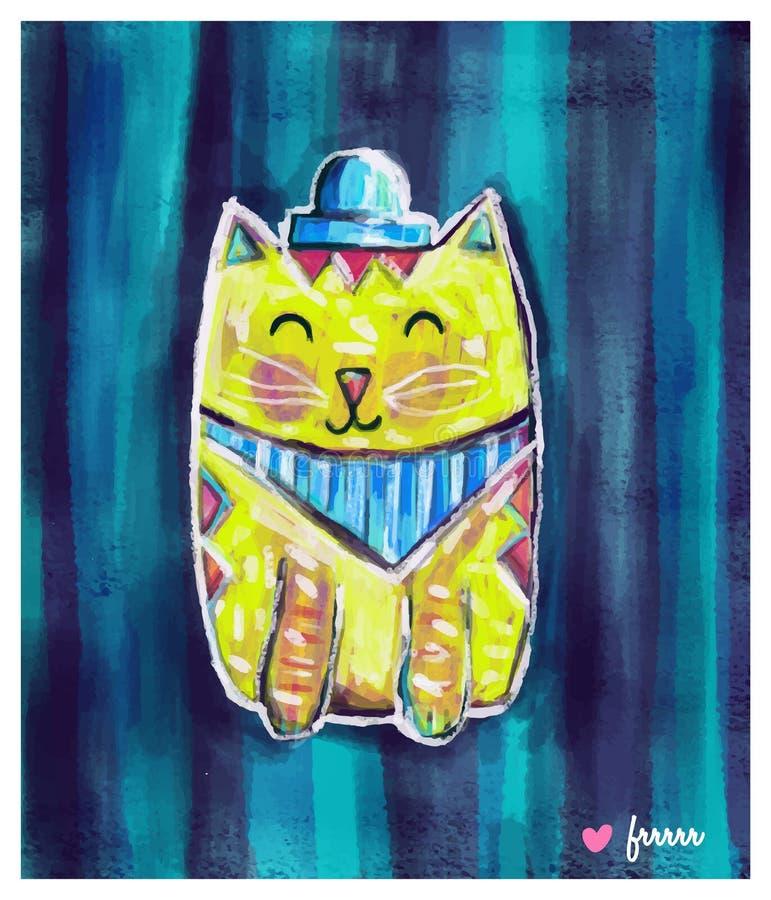 Chat jaune mignon photos libres de droits