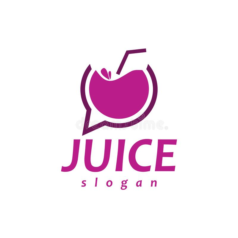 Chat Juice Logo lizenzfreie stockfotos