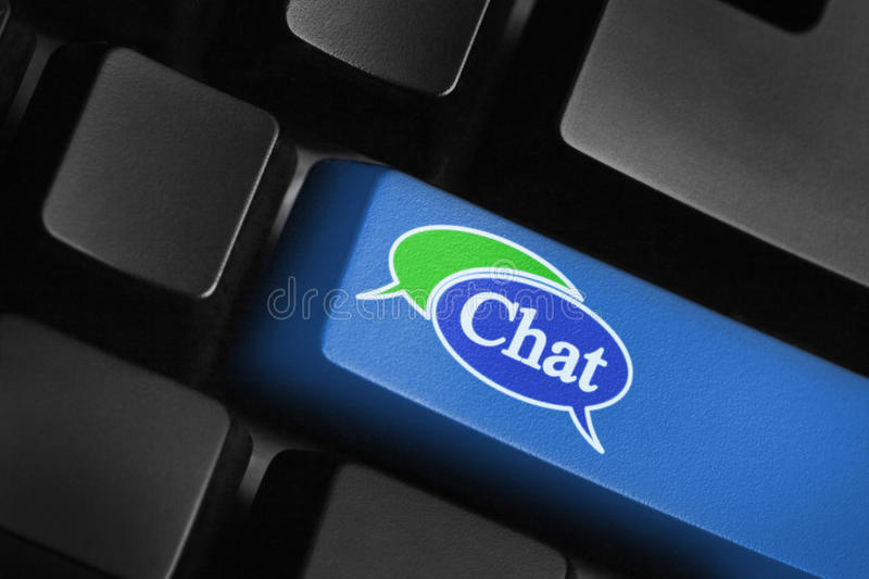 Download Chat Key Stock Image - Image: 16802921