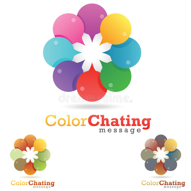 Chat Logo royalty free stock photography