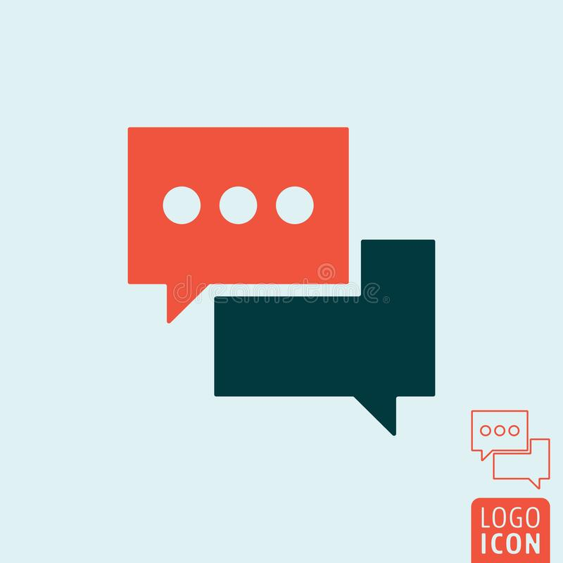 Chat message icon - speech bubble symbol. Vector illustration. stock illustration