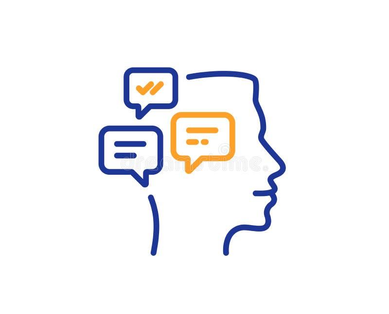 Chat Messages line icon. Conversation sign. Vector. Chat Messages line icon. Conversation sign. Communication speech bubbles symbol. Colorful outline concept royalty free illustration