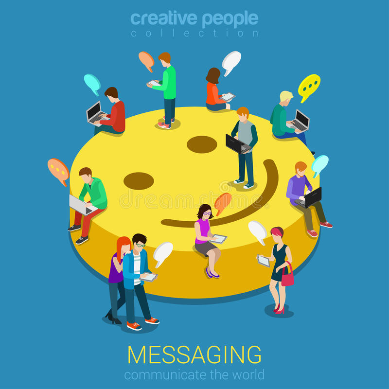 Free Chat Messaging Communication Concept Stock Photos - 52070343