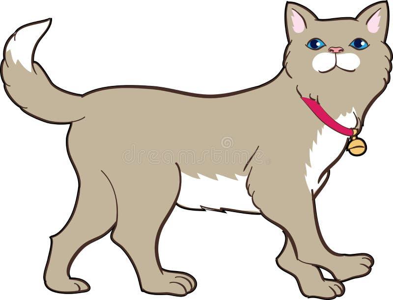 Chat mignon illustration de vecteur