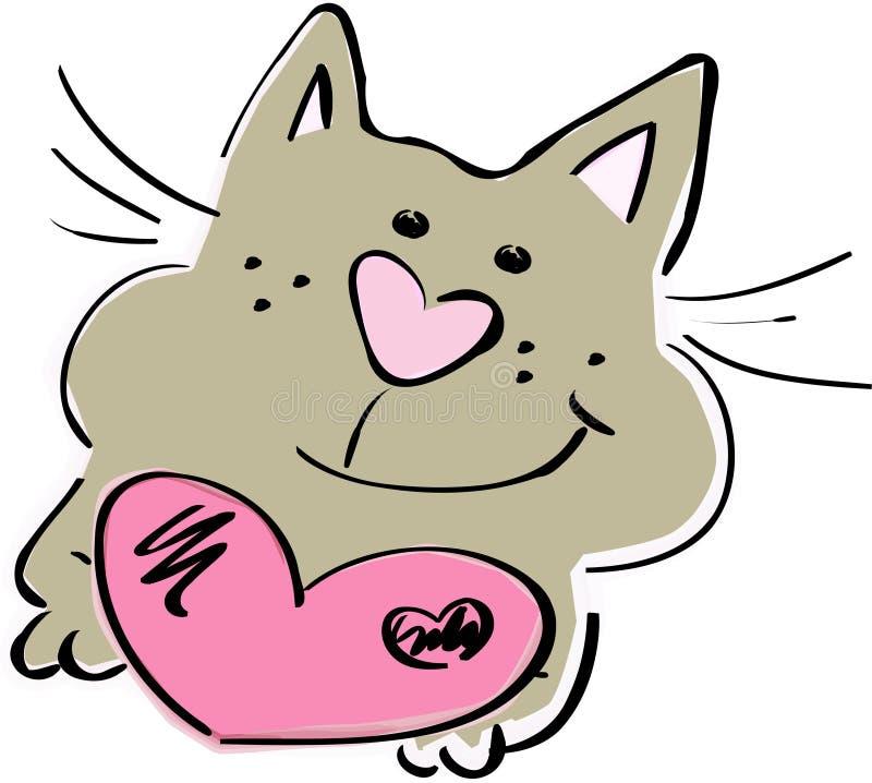 Chat mignon illustration stock