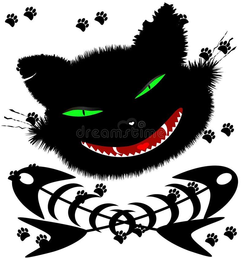 Chat noir illustration stock