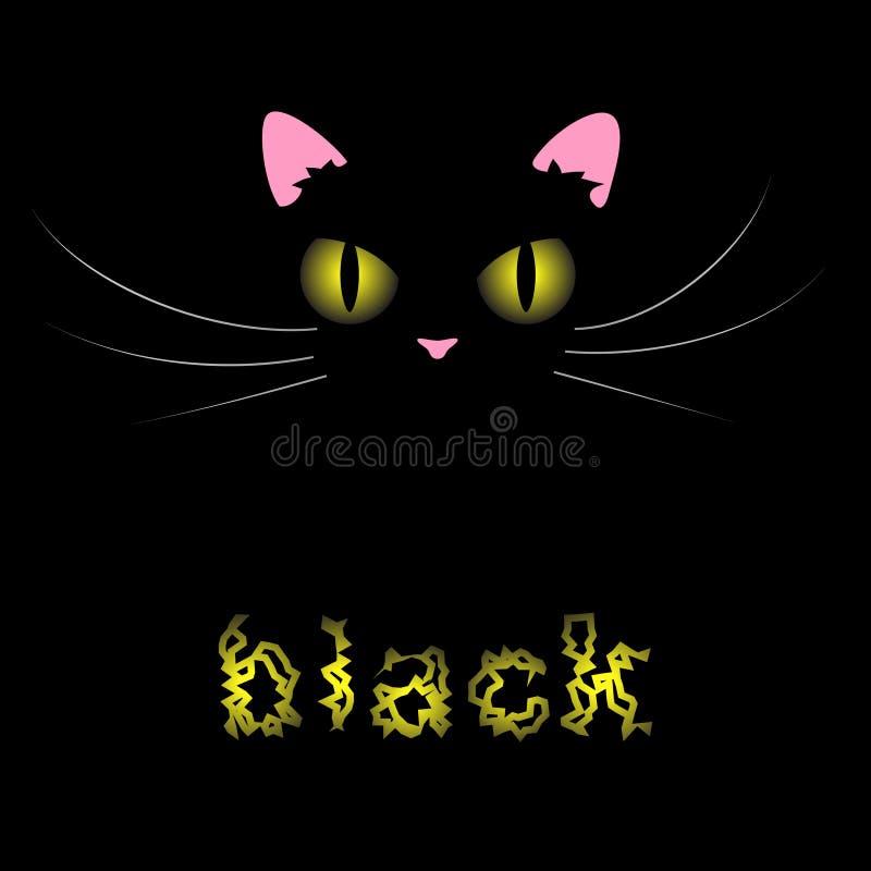 Download Chat noir illustration de vecteur. Illustration du effet - 8671807