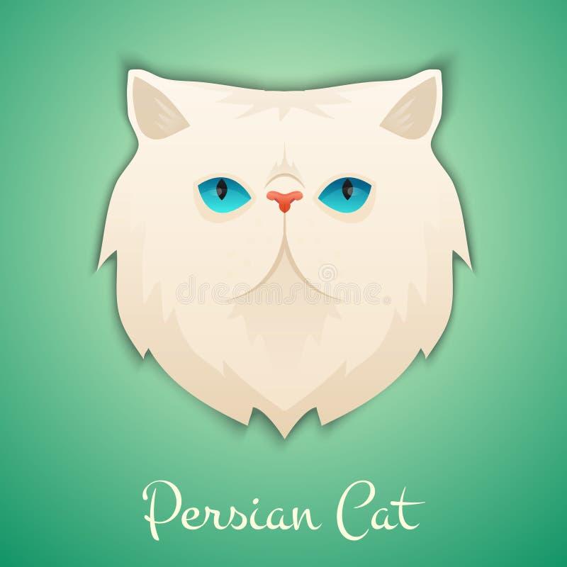 chat persan illustration stock