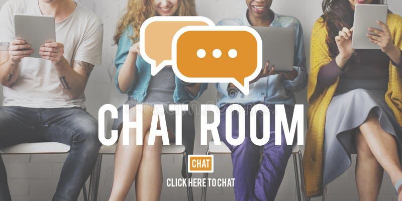 Chat-Room-on-line-Mitteilungs-Kommunikations-Verbindungs-Technologie C lizenzfreie stockfotos