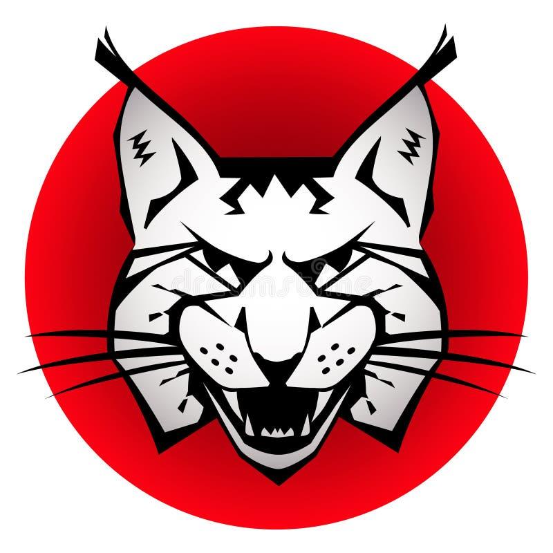 Chat sauvage illustration de vecteur