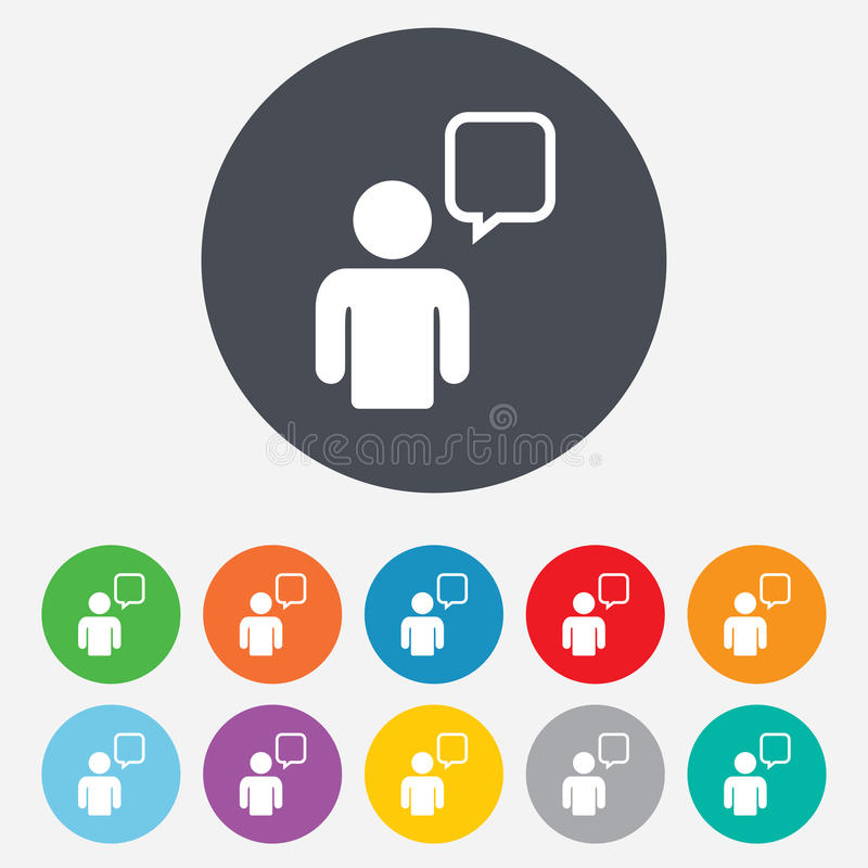 Free Chat Sign Icon. Speech Bubble Symbol. Royalty Free Stock Image - 36728396