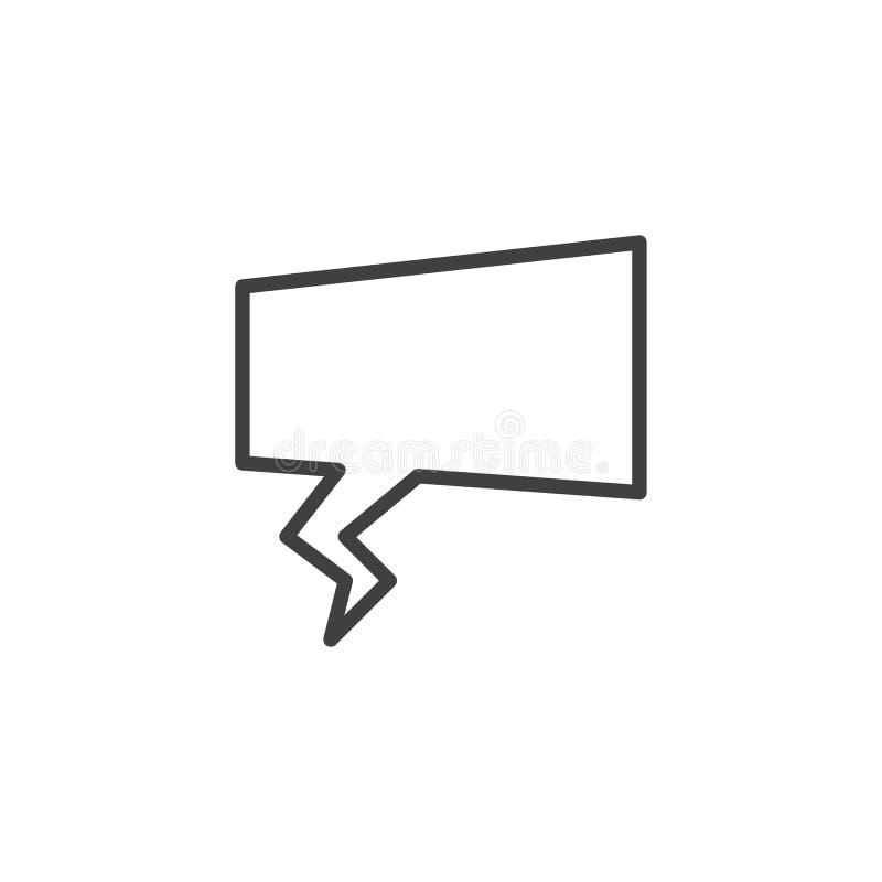 Chat speech bubble line icon stock illustration