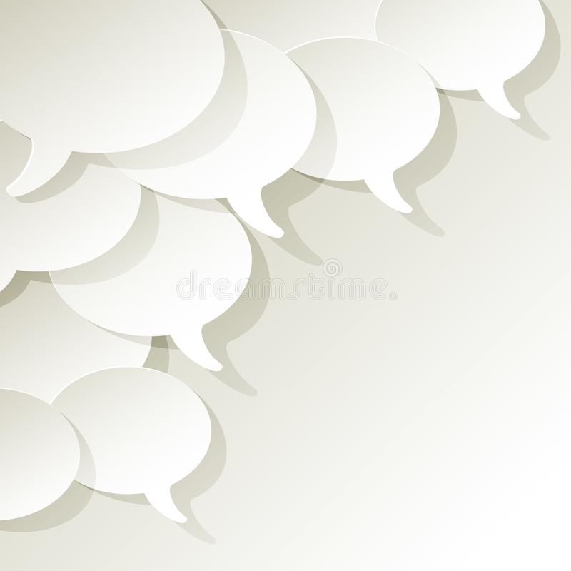 Chat speech bubbles ellipse vector white in the corner on a white background. vector illustration