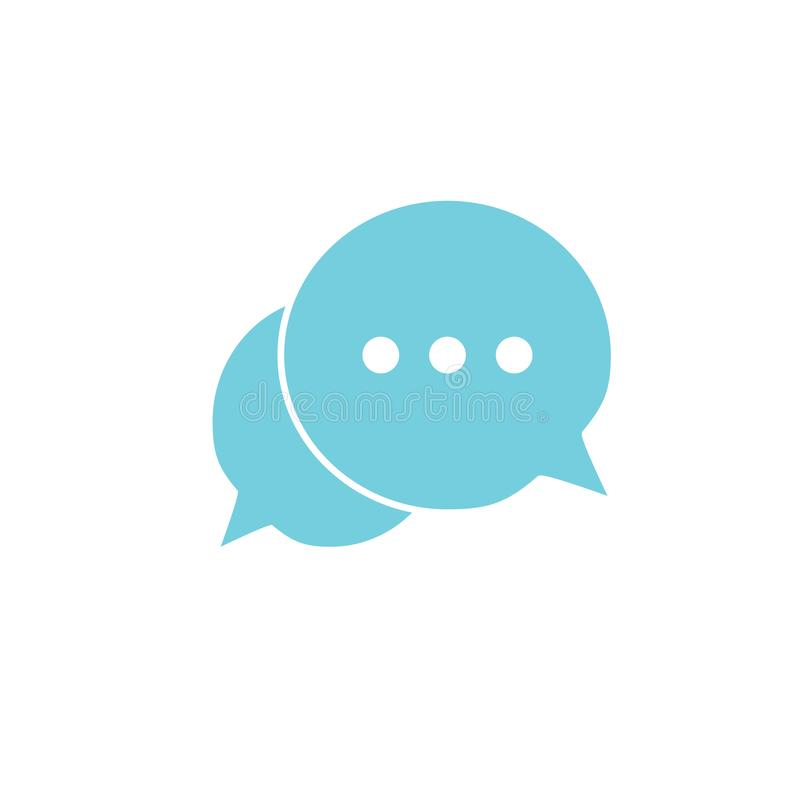 Chat icon. Speech bubbles icon. Message sign. Vector illustration, flat design. royalty free illustration