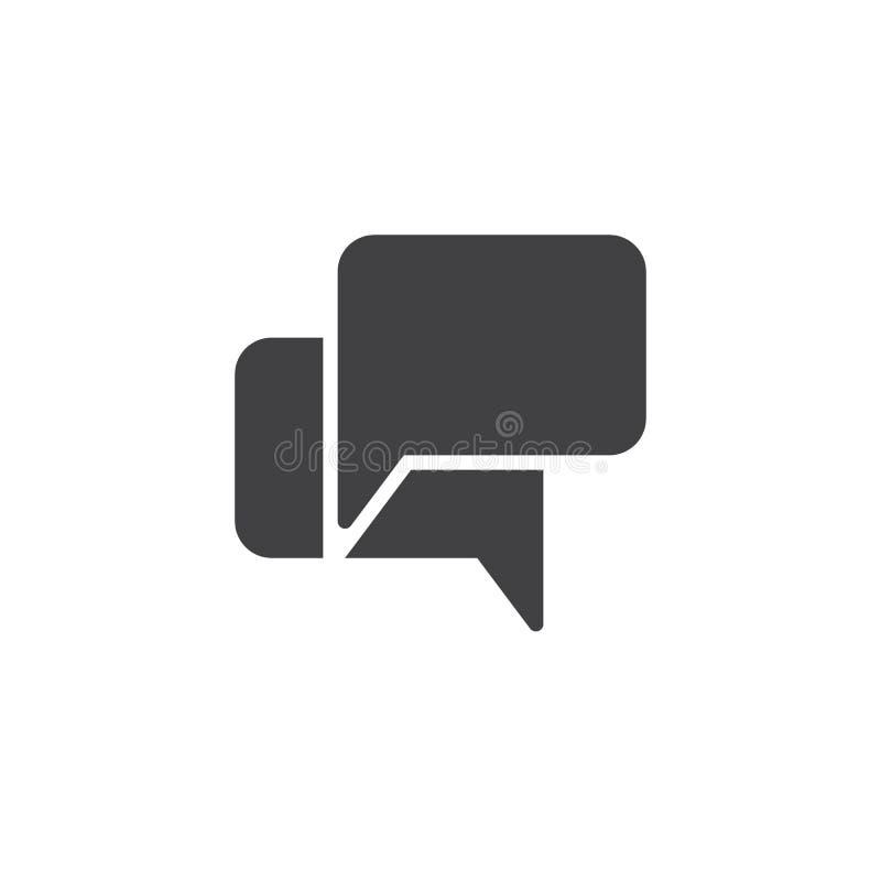 Chat Speech Bubbles vector icon stock illustration
