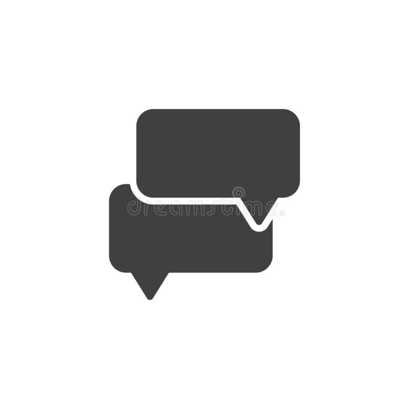 Chat Speech Bubbles vector icon royalty free illustration