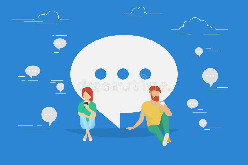 Chat talk concept illustration vector illustration