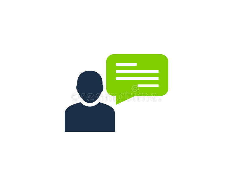 Chat Talk Testimonial Icon Logo Design Element. This design can be used as a logo, icon or as a complement to a design royalty free illustration