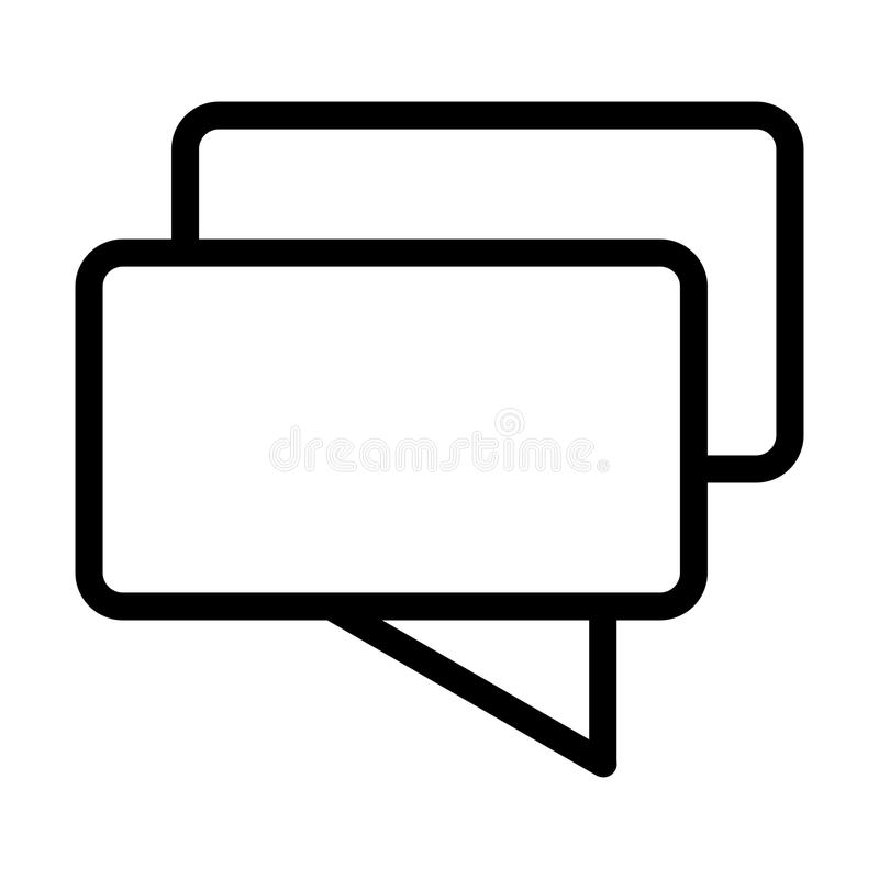 Chat vector icon. Black and white message illustration. Outline linear icon. royalty free illustration