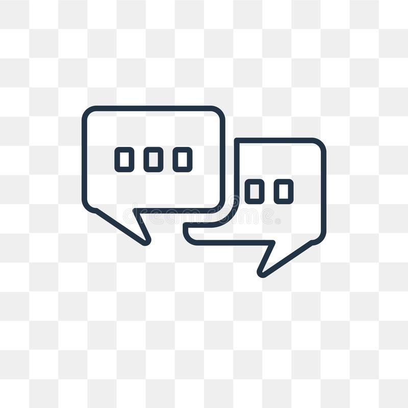 Chat vector icon isolated on transparent background, linear Chat stock illustration