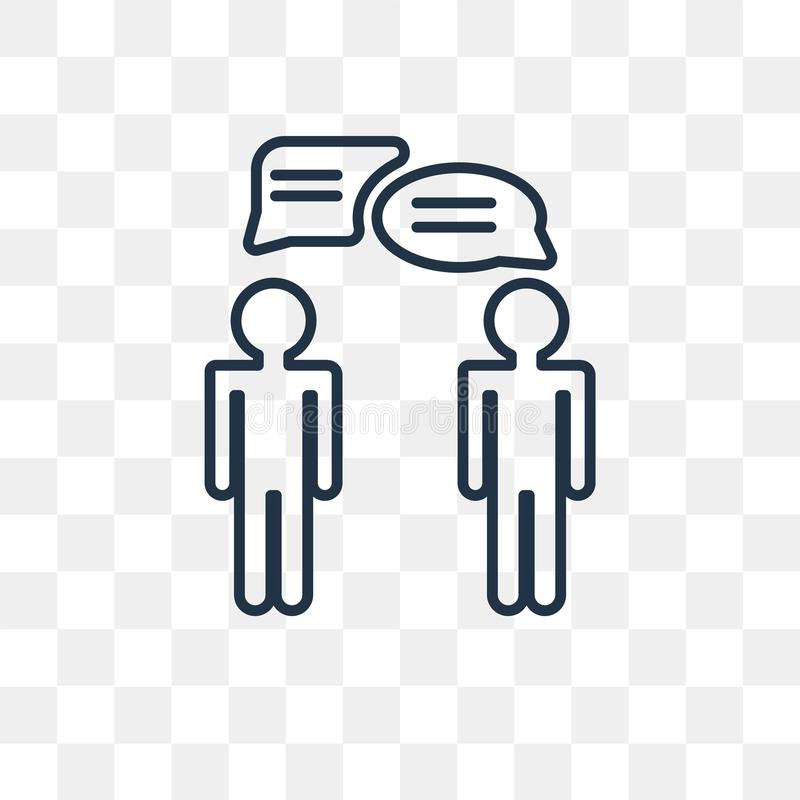 Chat vector icon isolated on transparent background, linear Chat royalty free illustration