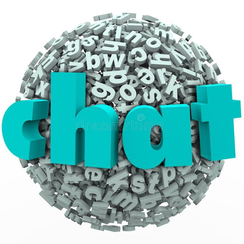 Chat-Wort-Buchstabe-Ball-Bereich-Unterhaltungsdiskussion vektor abbildung