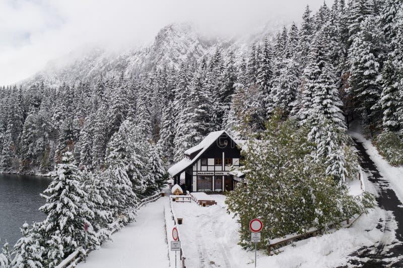 Chata de Majlathova Parque narodny de Tatransky Vysoke tatry slovakia fotos de stock
