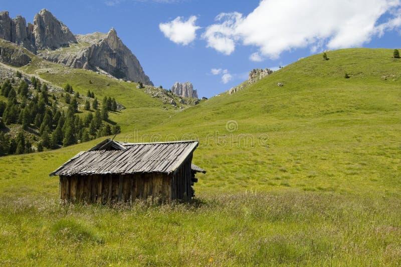 chata dolomity zdjęcie royalty free