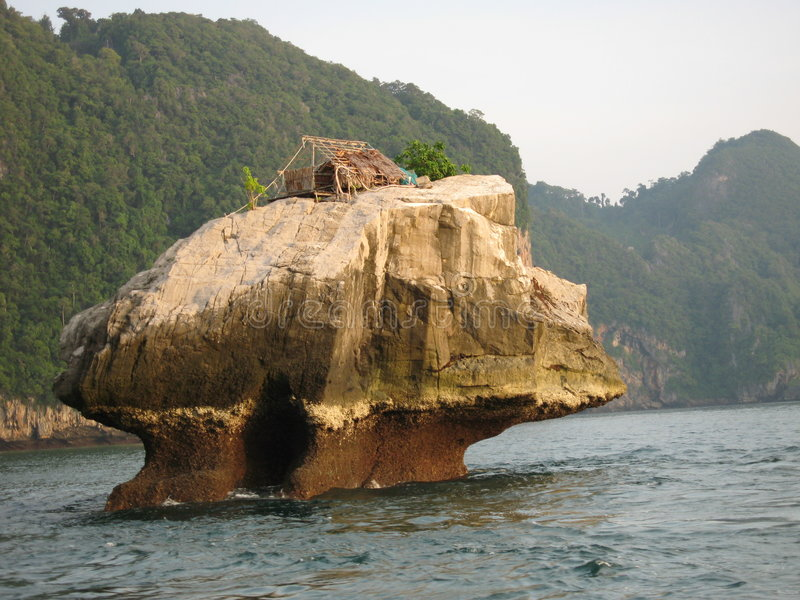 chata jest Thailand rybak obrazy royalty free