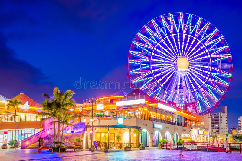 Chatan, Okinawa, Japan. Okinawa, Japan at American Village royalty free stock photography