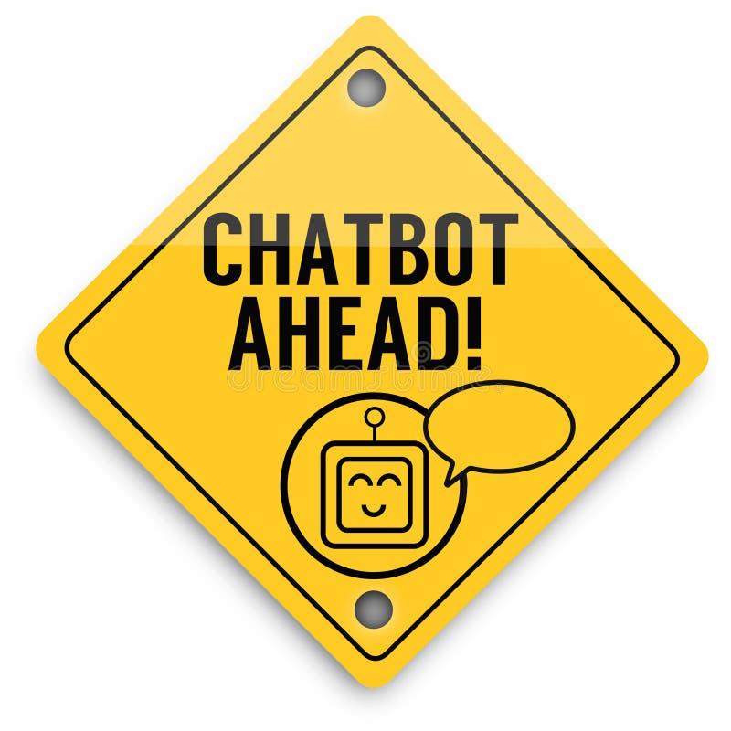 Σχέδιο στοιχείων υποβάθρου Chatbot μπροστά, έξοχη αφίσα ποιοτικών αφηρημένη επιχειρήσεων ελεύθερη απεικόνιση δικαιώματος