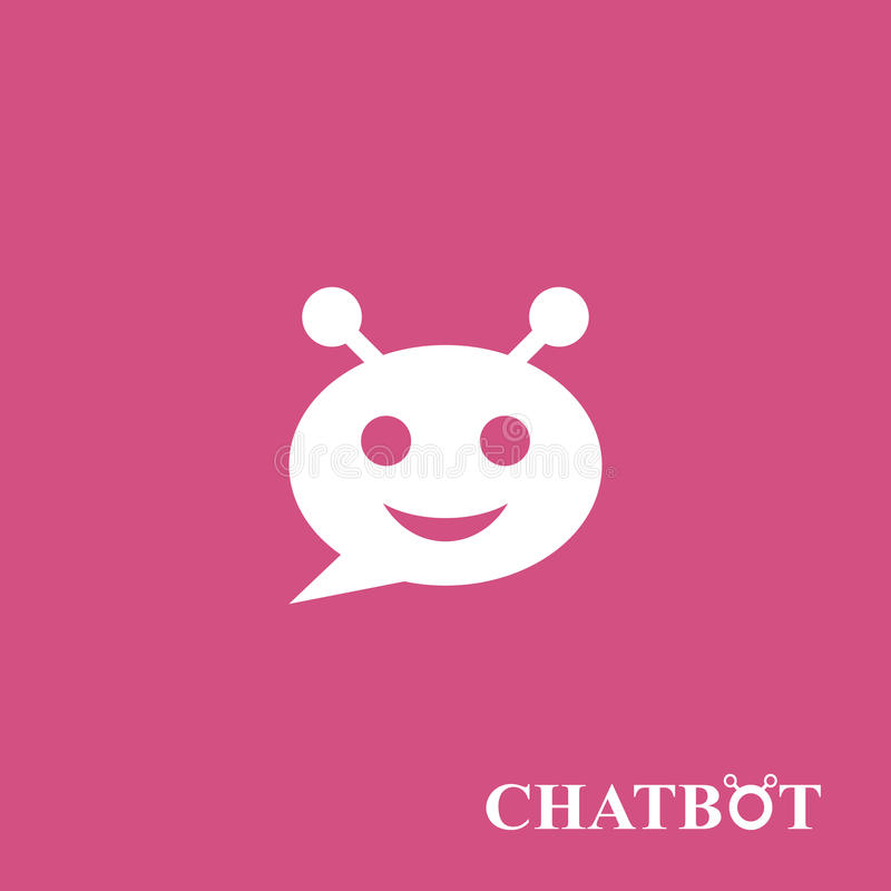 Chatbot of chatterbot pictogramconcept royalty-vrije illustratie