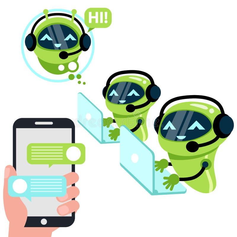 Chatbot concept royalty free illustration