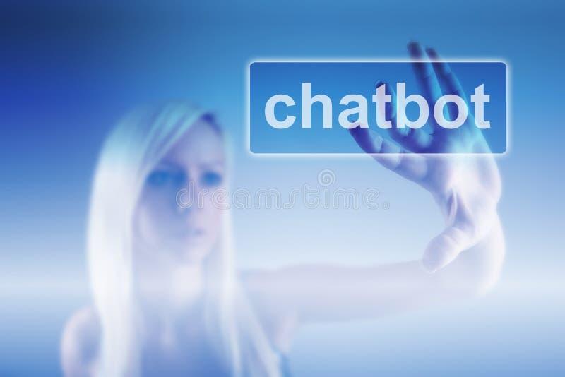 Chatbot e conceito futuro de uma comunicação fotografia de stock
