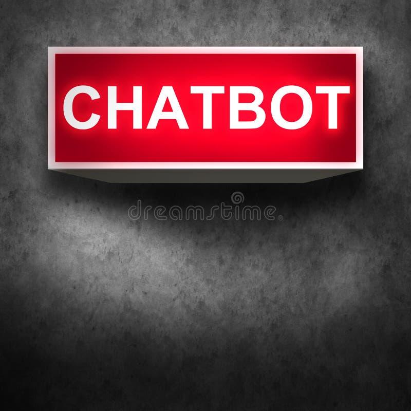 Chatbot e conceito futuro de uma comunicação ilustração stock