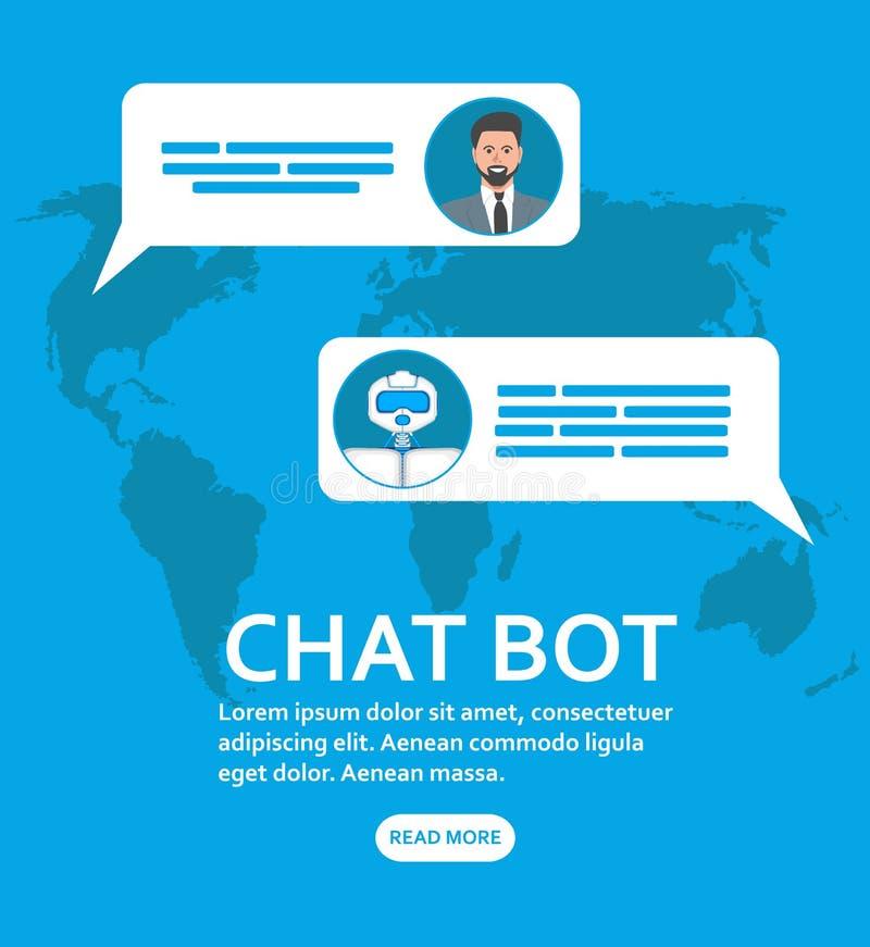 Chatbot e conceito futuro do mercado ilustração royalty free