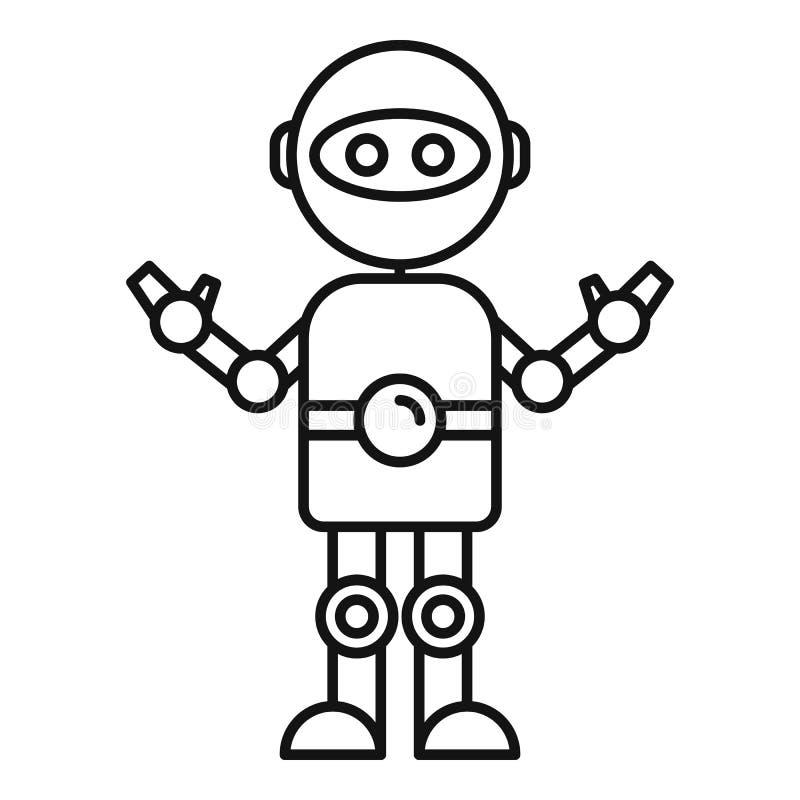 Chatbot ikona, konturu styl royalty ilustracja
